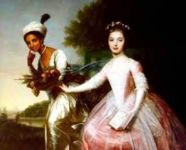 Dido Belle with cousin Elizabeth